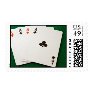 Winning Hand Four Aces Stamp