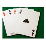 Winning Hand Four Aces Postcard