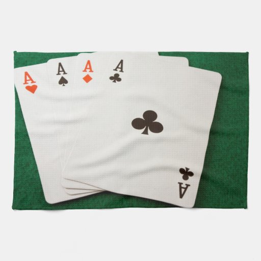 Winning Hand Four Aces Towel