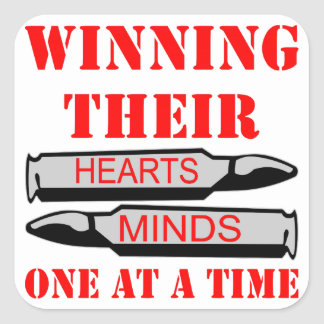 Winning Heart & Minds One Bullet At A Time Stickers