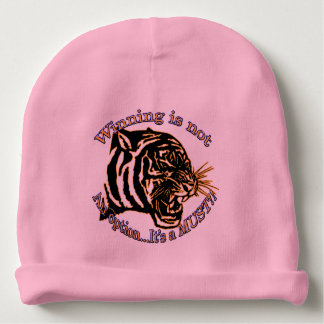 Winning is not an option, it's a must baby beanie