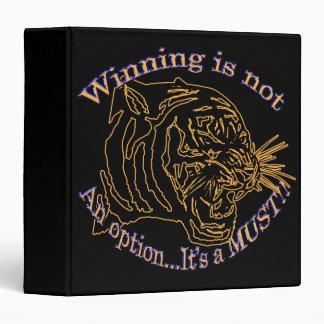 Winning is not an option, it's a must binder