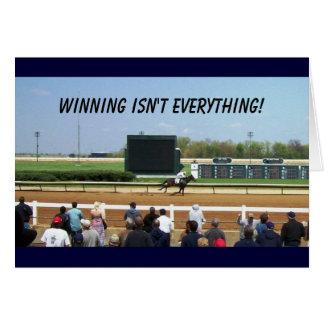 Winning isn't everything - optional choice card