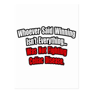 Winning Isn't Everything Quote, Celiac Disease Postcard