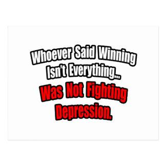 Winning Isn't Everything Quote, Depression Postcard