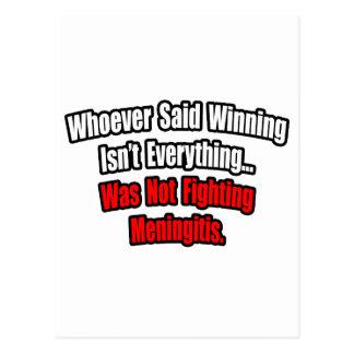 Winning Isn't Everything Quote, Meningitis Postcard