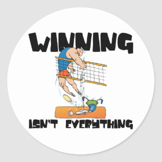 Winning Isn't Everything Volleyball Classic Round Sticker