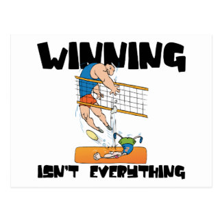 Winning Isn't Everything Volleyball Gift Post Card