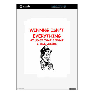 winning joke iPad 2 decals