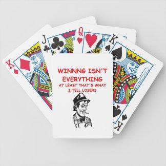 winning joke bicycle playing cards