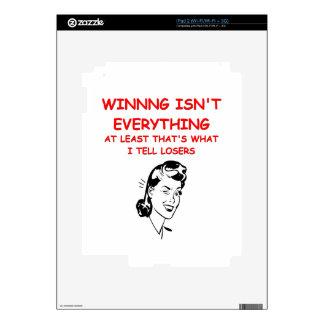 winning joke decal for iPad 2