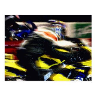 Winning Motorcycle in race Postcard