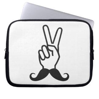 Winning Mustache custom laptop sleeve