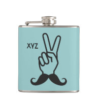 Winning Mustache custom monogram flask