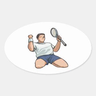 Winning Oval Sticker