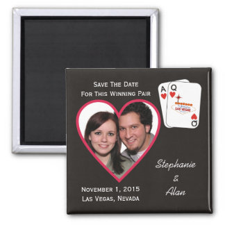 Winning Pair Save The Date Magnet