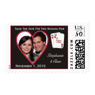 Winning Pair Save The Date Postage