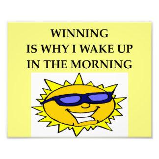 winning! photo print