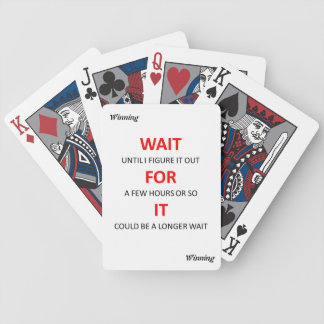 #Winning Playing Cards - Wait for It!