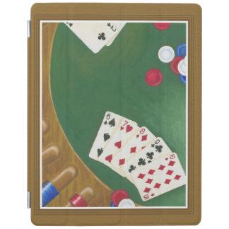 Winning Poker Hand Six Through Ten iPad Cover