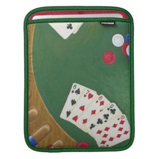 Winning Poker Hand Six Through Ten iPad Sleeve