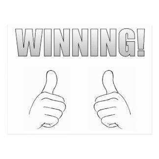 Winning! Postcard