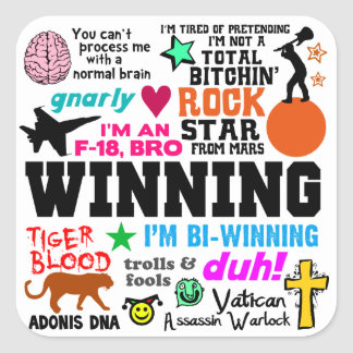Winning Quotes Stickers