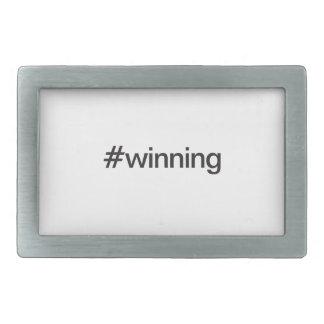 #winning rectangular belt buckle