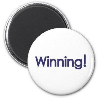 winning! sheen 2 inch round magnet