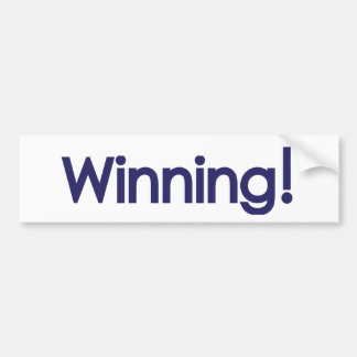 winning! sheen bumper sticker