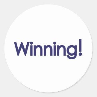 winning! sheen classic round sticker