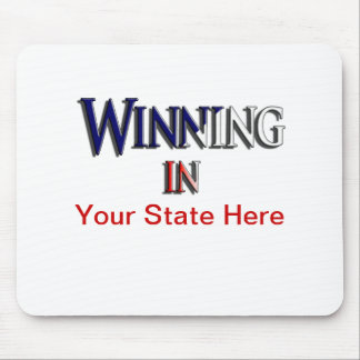 """""""WINNING"""" State by State Support Mouse Pad"""