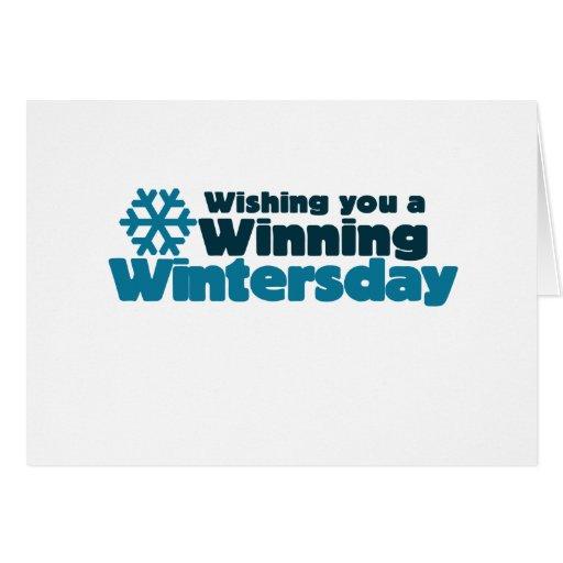 Winning Wintersday Stationery Note Card