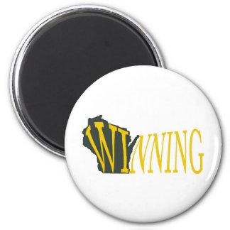 Winning Wisconsin 2 Inch Round Magnet