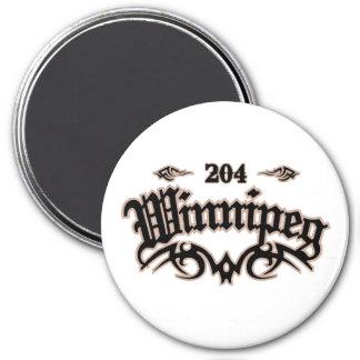 Winnipeg 204 3 inch round magnet