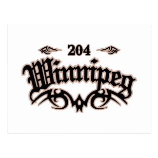 Winnipeg 204 post card