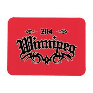 Winnipeg 204 rectangular photo magnet