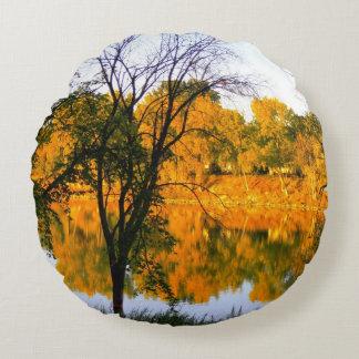 Winnipeg Autumn Round Pillow