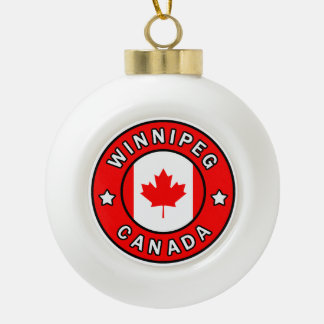 Winnipeg Canada Ceramic Ball Christmas Ornament