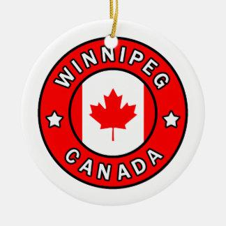 Winnipeg Canada Ceramic Ornament