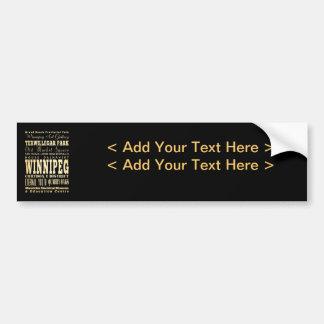 Winnipeg City of Canada Typography Art Bumper Sticker