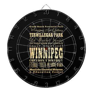 Winnipeg City of Canada Typography Art Dartboard