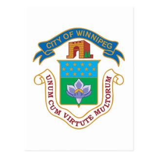 Winnipeg Coat of Arms Postcard