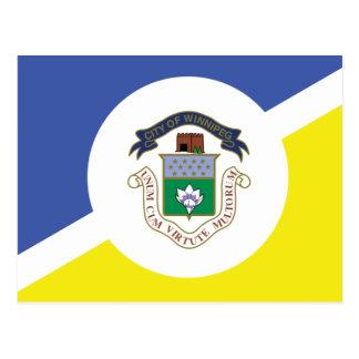 Winnipeg flag postcard