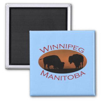 Winnipeg, Manitoba 2 Inch Square Magnet