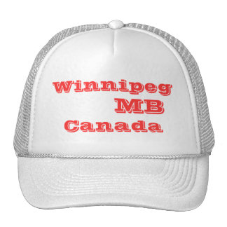 Winnipeg Manitoba Canada Trucker Hat