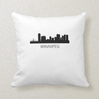 Winnipeg Manitoba Cityscape Throw Pillow