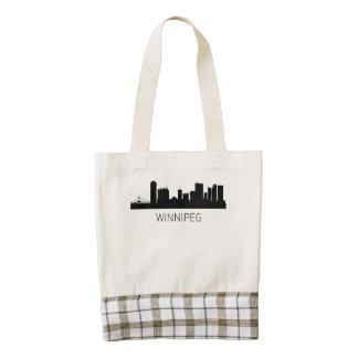 Winnipeg Manitoba Cityscape Zazzle HEART Tote Bag