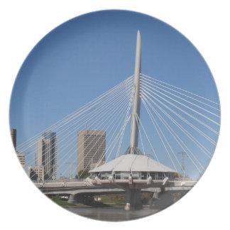 Winnipeg Provencher Bridge Melamine Plate