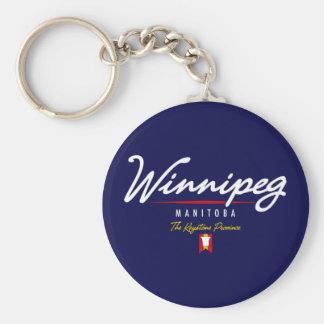 Winnipeg Script Key Chain